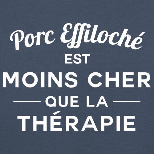 Porc effiloché est moins cher que la thérapie - Femme T-Shirt - 14 couleur Bleu Marine