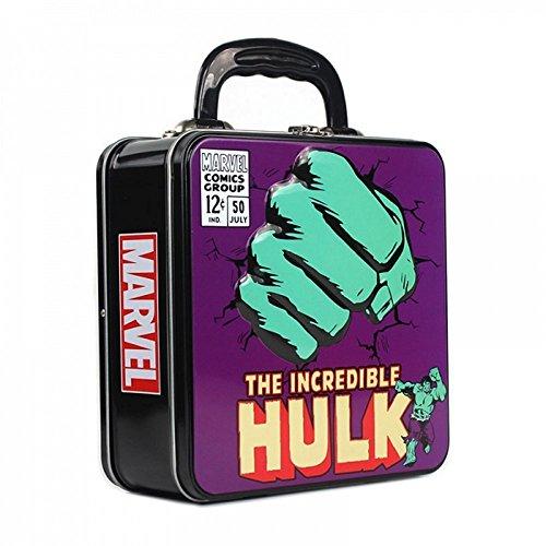 Marvel Comics - Blechkoffer Brotdose Lunchbox - Hulk - beidseitig bedruckt (Lunch-box-iron Man)