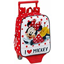 Minnie Mouse - Mochila guardería con ruedas trolley 22x10x27cm (611748280)