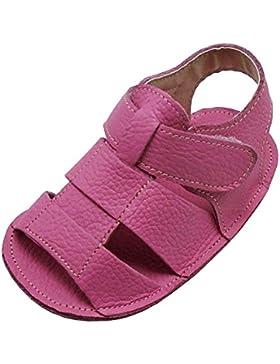 Mejale Baby Schuhe Neugeborenen Sandalen Schuhe rutschfest Kleinkind ersten Wanderer Sommer Schuhe Hell-Pink