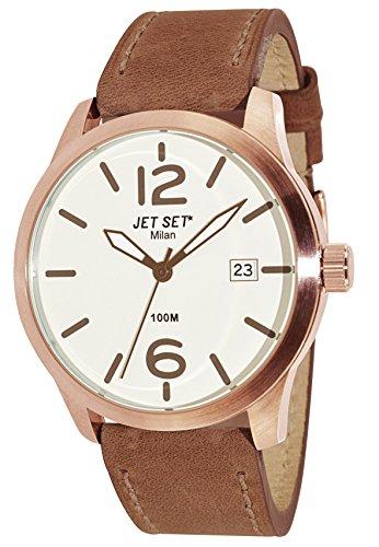 Jet Set 15241 J6380R-656 - Orologio da polso da uomo, cinturino in pelle colore marrone