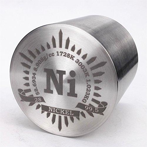 1kg Fein Wenden Nickel Metall Zylinder 53× 53mm 99,5{3fff1d1077d660d99931aaa6e50673e0004c651ccc66b2b2ce503e1ce76bc61e} Gravur Periodensystem