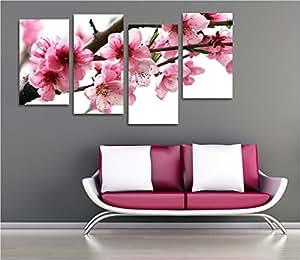 Fiori pesco quadro moderno intelaiato 152x78 cm stampa for Quadri d arredo moderni
