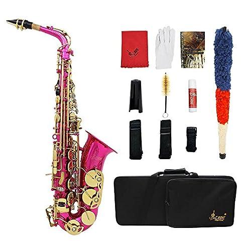 ammoon LADE Brass Gravé Eb E-Flat Alto Saxophone Sax Abalone