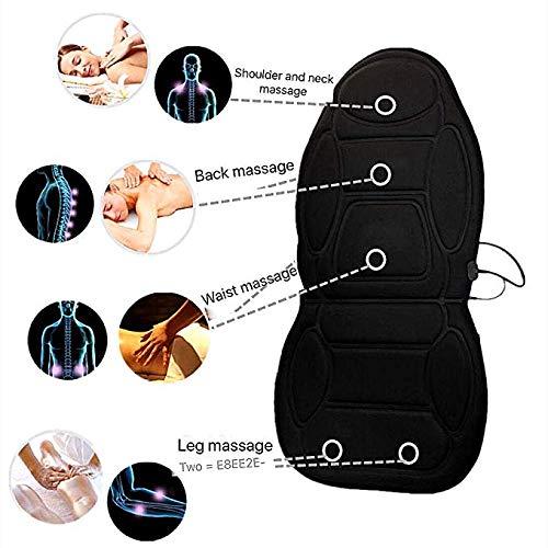 Cuscino da sedia o sedile auto massaggiante massaggiatore con presa da casa e da auto doppio alimentatore per massaggio,schiena massaggio cuscino sedile massaggiante elettronico, massaggiatore con 8 v