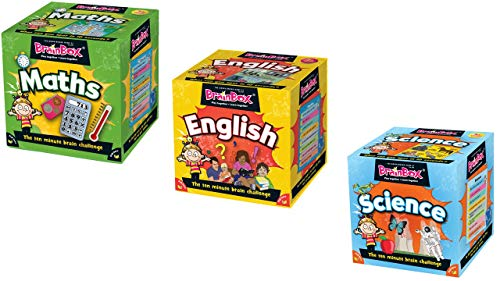 BrainBox - Math, Science and English - Bundle( 3 Items) - Educational Memory card games