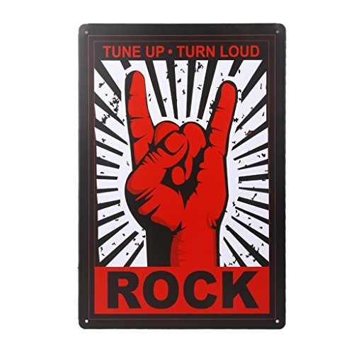 Vintage Poster Metallo Rock Segno Arredo Murale Pub Bar Cafe Casa 20x30cm