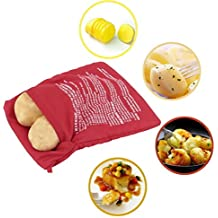 HaoYiShang Microondas 4 minutos Chaqueta patatas olla rápida lavable reutilizable Koch