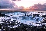 Poster 90 x 60 cm: EL Bufadero Wasserfall Gran Canaria von