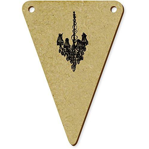 Azeeda 5 x 70mm \'Skizzierter Kronleuchter\' Wimpel / Banner aus Holz (BN00034396)