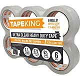 Premium Packing Tape - Packaging, Shipping, Sealing for Box, Package, Storage & Moving - Ultra Clear, Heavy Duty, Commercial Grade Tape - 6 Rolls by EXHEED by EXHEED
