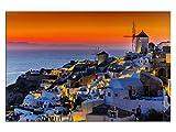 kunst-discounter Santorin bei Nacht Leinwandbilder auf
