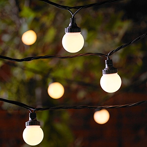 40er LED Party Lichterkette warmweiß 20m koppelbar PRO Serie Lights4fun -