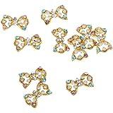 10pcs 3D Etiqueta Clavo Diamantes De Imitación Decoraciones Del Arte Maquillaje De Uñas Aleación Joyería Repique Stricker - # 1, oro