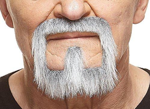 Grauer Henriquatre mit weißr fälschen, selbstklebend Bart