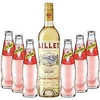 Sommeraperitif-Set Lillet Blanc 17% Vol. 0,75l & Schweppes Russian Wild Berry 6x0,2l inkl. Pfand