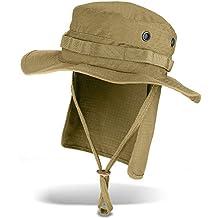 Black Snake - Sombrero de safari para el sol y con protección de cuello 8bdb4b62526