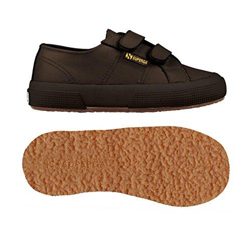 Superga 2750 - Microfiberpuvj, Unisex-Kinder Sneakers Full Dk Chocolate