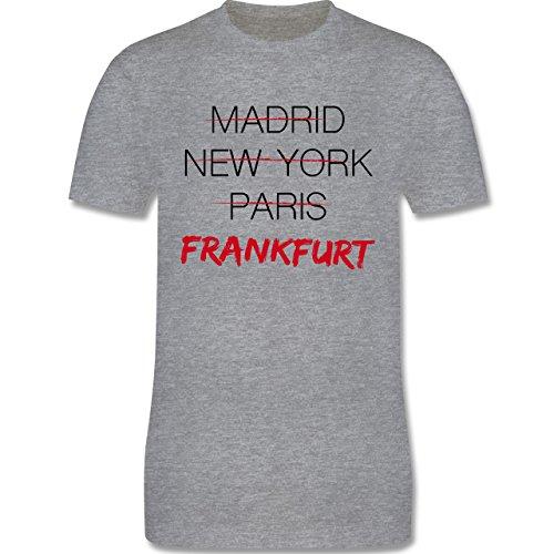 Städte - Weltstadt Frankfurt - Herren Premium T-Shirt Grau Meliert