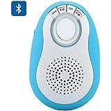 BW® Mini Enceinte Bluetooth + Appareil photo Télécommande Déclencheur pour Android/iOS–Fente pour carte micro SD, Radio FM, mains libres (Bleu)