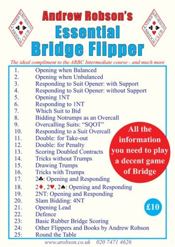 Andrew Robson's Essential Bridge Flipper by Andrew Robson (March 9, 2007) Spiral-bound
