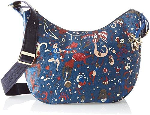 piero guidi 214904038, Borsa a Tracolla Donna, 35x30x15 cm Blu (Bluette)
