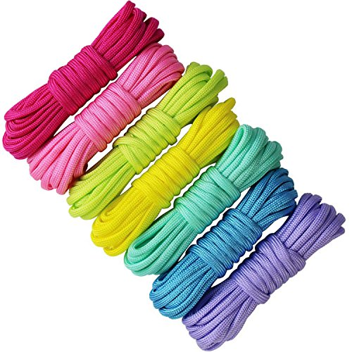 edgeam 7para cordset cordones pulsera de supervivencia de paracaidismo Nylon Cuerda DIY (ftalatos Colores)