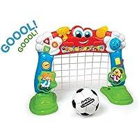 Baby Clementoni Portería fútbol interactiva, Color Rojo, Azul y Verde (550487)