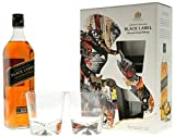 Johnnie Walker Black Label in GP mit 2 Gläser Blended Scotch Whisky (1 x 0,7l)