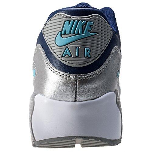 Nike Air Max 90 Ltr Gs, Scarpe da Ginnastica Bambina Blu (Binary Blue/Matte Silver/Vivid Sky/Mtlc Silver/White)