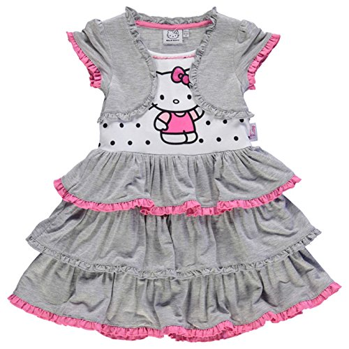 Character Kinder Maedchen Kleid Aermellos Rundhals Motiv Ra Ra Rock Hello Kitty 2-3 (Geburtstag Hello Kleid Kitty)