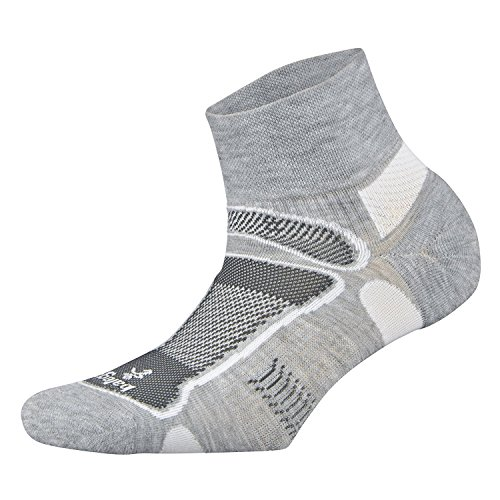 Balega Herren Ultralight Quarter Athletic Running Socken L grau - High-performance-knöchel-socken