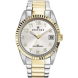 Certus - 616398 - Montre Homme - Quartz Analogique - Cadran Argent - Bracelet Acier Bicolore