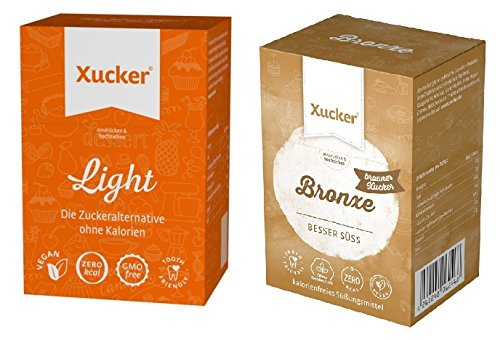 Xucker - Erythrit Light Sticks (250 g) und Bronxe Sticks (180 g) 2er Mix