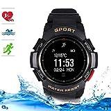 LMtt Fitness Tracker, Smart Watch,IP68 Waterproof Bluetooth Bracelet Dynamic Heart Rate Monitor für Android Apple Smart Phone,Black