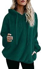 Forthery Women's Hoodie Sweatshirt Long Sleeve Warm Winter Coat Jacket Outwear