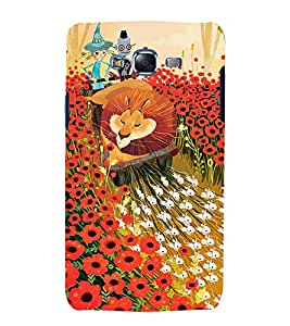 Fuson Premium Back Case Cover Cartoon With yellow Background Degined For Samsung Galaxy Grand Neo Plus::Samsung Galaxy Grand Neo Plus i9060i