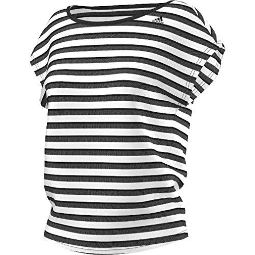 adidas Q4 T-Shirt Femme noir/blanc