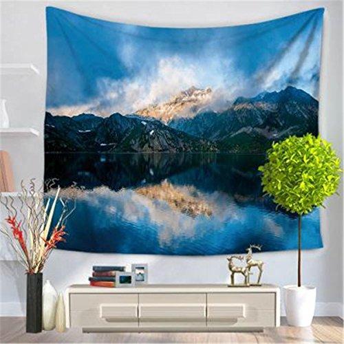 Preisvergleich Produktbild XGHC Wandteppich,  Naturlandschaftsmuster Tapisserie,  Strandtuch Stranddecke ,  rust color ,  200*150
