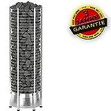 Sawo Elektrische Saunaöfen Tower Round TH9 | Steuergerät:mit LEISTUNGSTEIL, Ohne Steurgerät (12.0 kW)