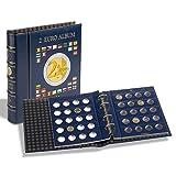 Leuchtturm 344852 Vista Münzalbum für bis zu 9 Vista Münzblätter oder 15 Optima Münzhüllen | Sammelalbum zum selbergestalten OHNE Inhalt | blau