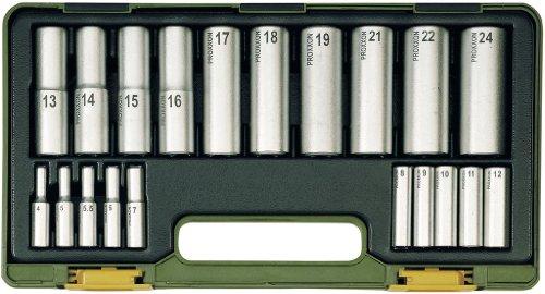 Proxxon 23292 Tiefbett-Steckschlüsselsatz, 20-teilig