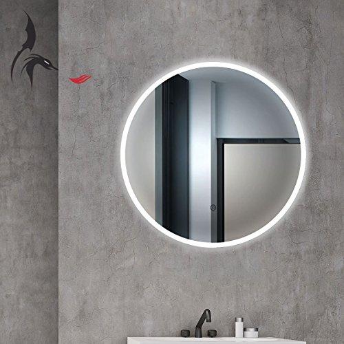 Specchio Da Bagno Tondo Cottbus Con Led E Diametro Da