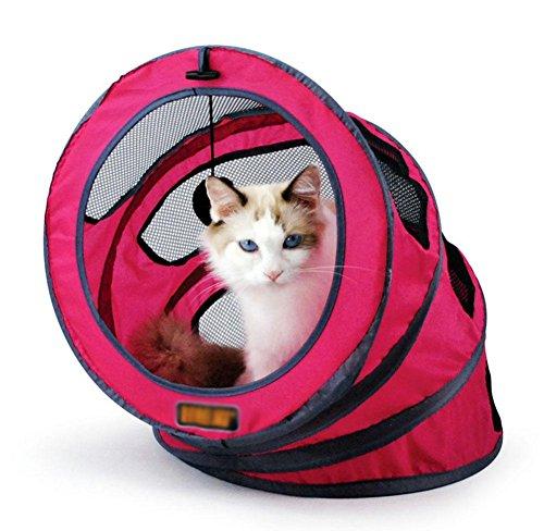 menklappbaren Tunnel Spiralgehäuse Haustier Zelte atmungsaktiv Mesh schöne Haustier Haus , 1 (Tunnel Trinken)