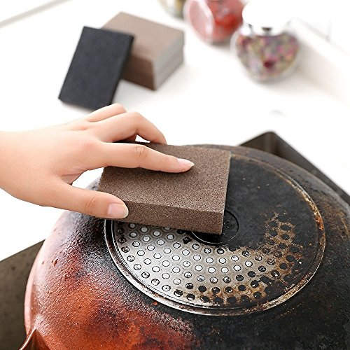 Das Fone Stuff® Nano Sponge Pad - Entkalker-Reinigungs-Radiergummi Reinigungs-Emery-Schwamm Easy Clean (6 Pack) von PurpleSalt® (Glas Emery)