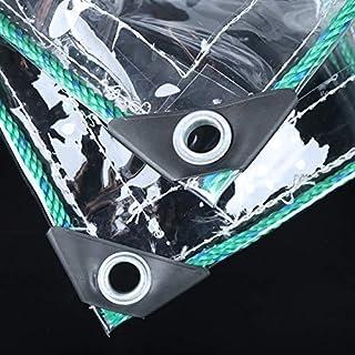 Planen Zwischen Transparente PVC-Wasserdichte Regen-Stoff Riss-Widerstand-Sonnenschutz-Blatt-Abdeckungen Heavy Duty klare Tarps mit Ösen, 500g / m² (größe : 2x3M)