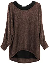81452853f52b Emma   Giovanni - Damen Oversize Oberteile Tshirt Pullover (2 Stück)