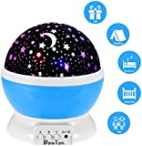 Starry Night Light Lamp,SlowTon Romantic 3 Modes Colorful LED Moon Sky Star Dreamer Desk Rotating Cosmos Starlight Projector for Children Kids Baby Bedroom