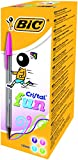BIC Cristal Fun Ball Pen with Large 1.6 mm Tip - Assorted Colours, Pack of 20