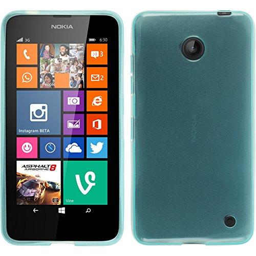 PhoneNatic Custodia per Nokia Lumia 630 Cover turchese trasparente Nokia Lumia 630 in silicone + pellicola protettiva